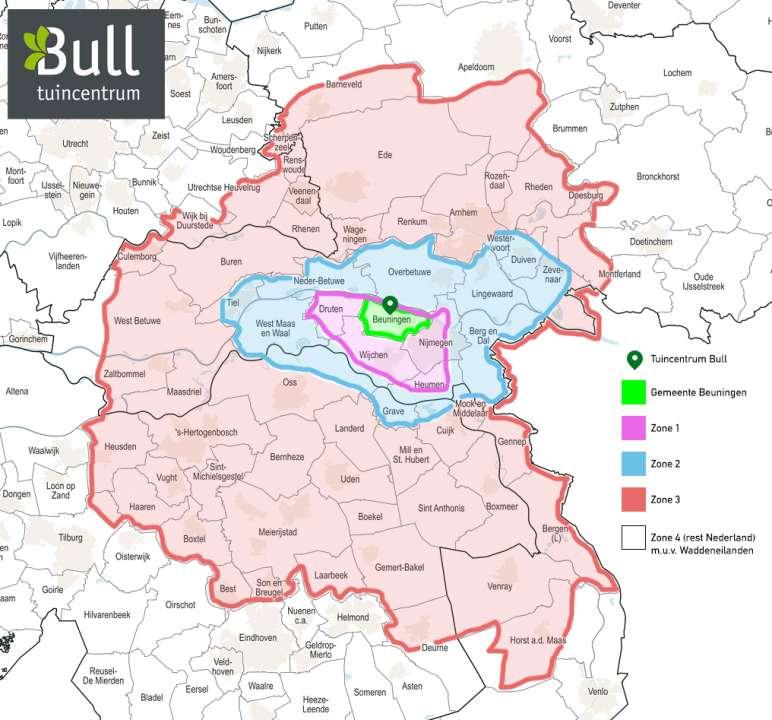 Verzending Tuincentrum Bull